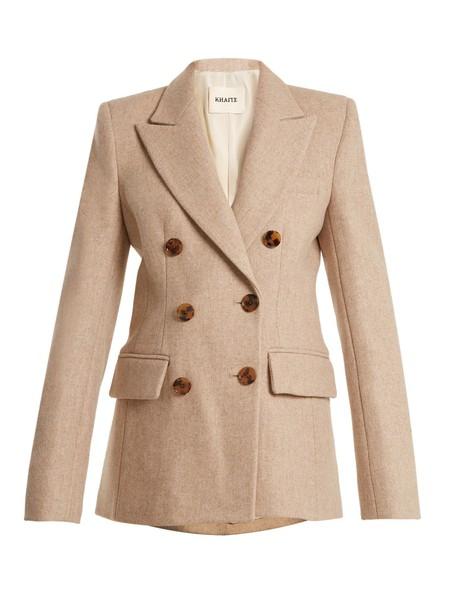KHAITE jacket wool jacket wool beige