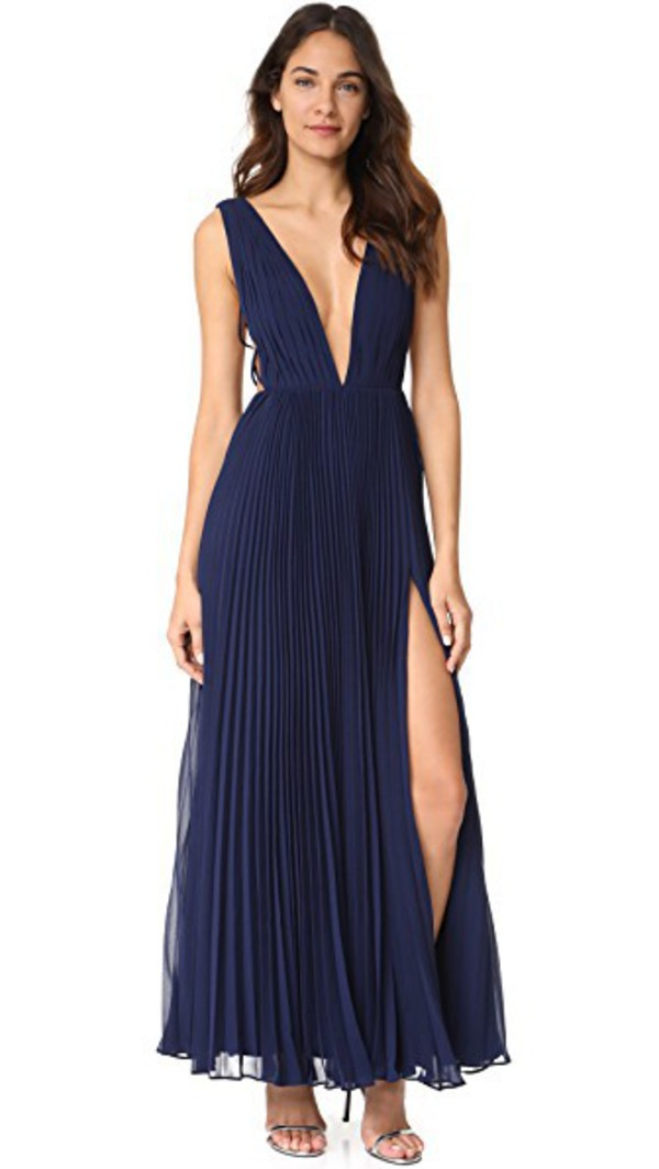 Fame and Partners The Allegra Dress in navy