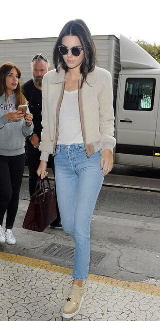 jacket top shoes jeans kendall jenner fashion week model streetstyle