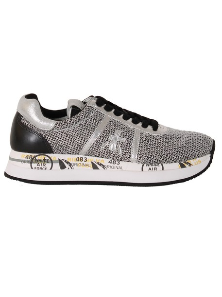 Premiata mesh sneakers silver shoes