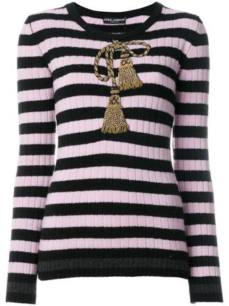 top striped top embroidered metallic tassel women spandex black wool