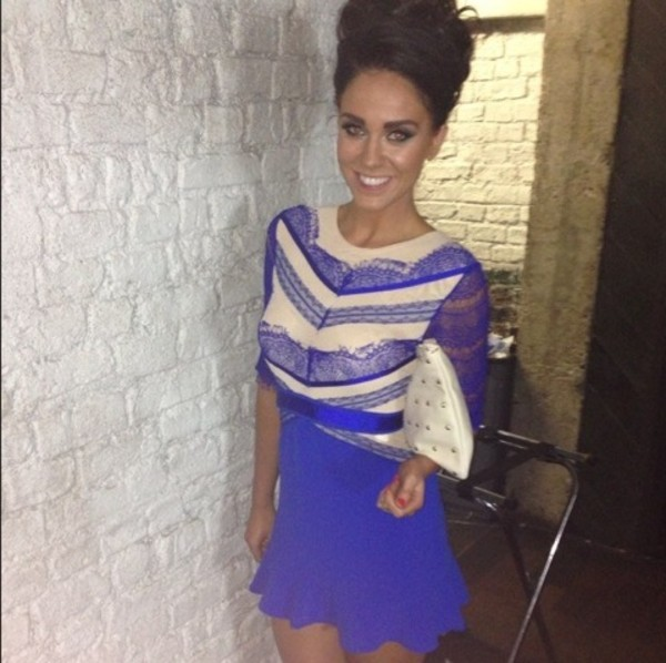 dress Vicky pattison lace sleeves