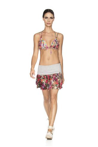skirt agua bendita cover up designer skirt printed skirt multicolor bikiniluxe