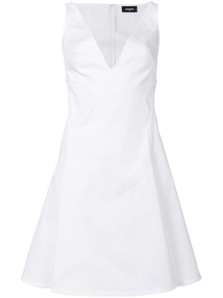 dress women spandex white cotton