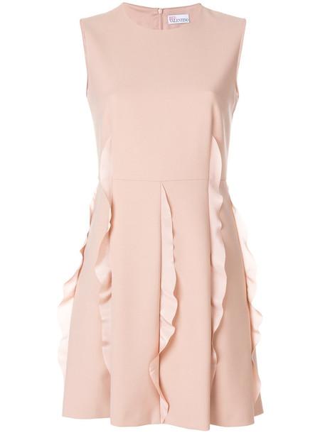 RED VALENTINO dress ruffle dress ruffle women spandex purple pink