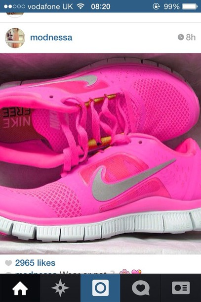 shoes pink trainers