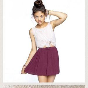 brandy melville burgundy skirt on Poshmark