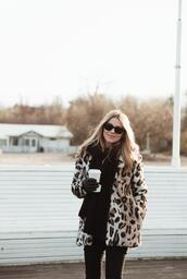 make life easier,blogger,coat,jeans,scarf,shoes,faux fur jacket,winter outfits