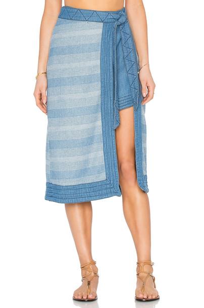 Free People skirt blue