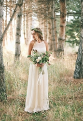 dress,wedding dress,a line wedding dresses,chiffon,ivory dress,simple wedding dresses,casual wedding dress,outdoor wedding dress