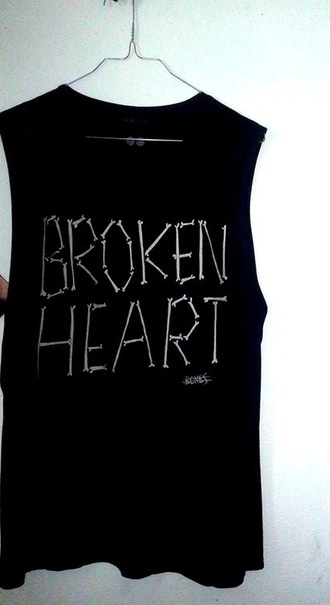 shirt cool shirts bones broken heart