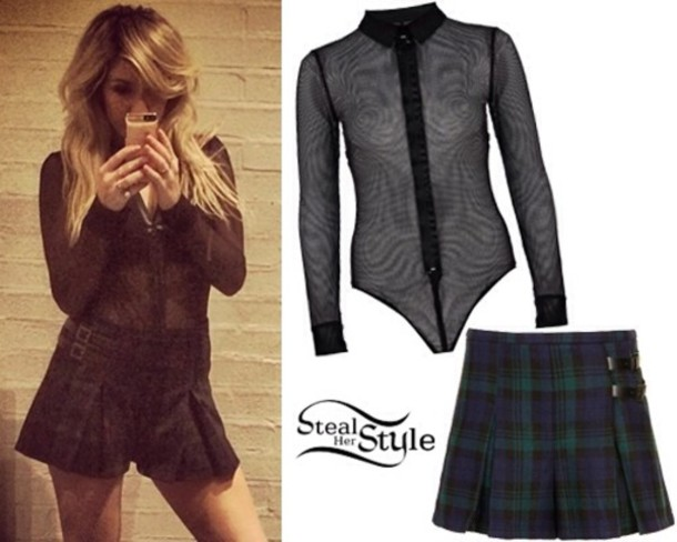 shorts ellie goulding shirt