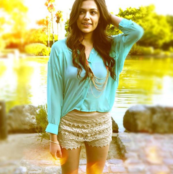 blouse mint bethany mota macbarbie07