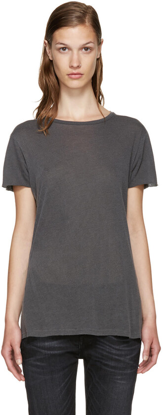 t-shirt shirt classic grey top