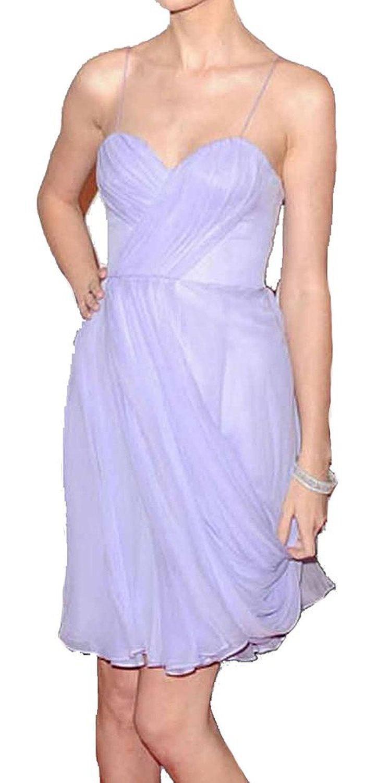 Amazon.com: Spaghetti Sweetheart Ruffles Lavender Cocktail Party Dress: Clothing