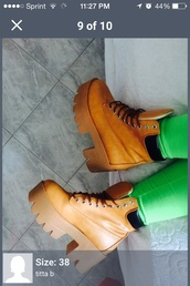shoes,platform shoes,timberland boots shoes,chunky shoes