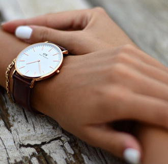jewels watch watch gold white brown gold watch gold trendy beautiful classy