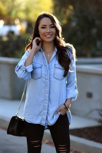hapa time blogger bag shoes jeans shirt