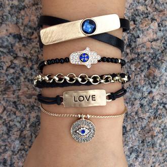jewels jewelry shopping trendy girly girl love heart blue bracelets cute