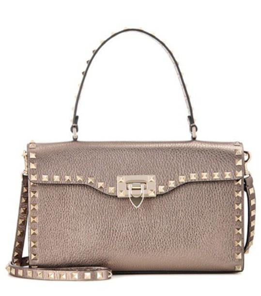 Valentino Rockstud Metallic Leather Shoulder Bag