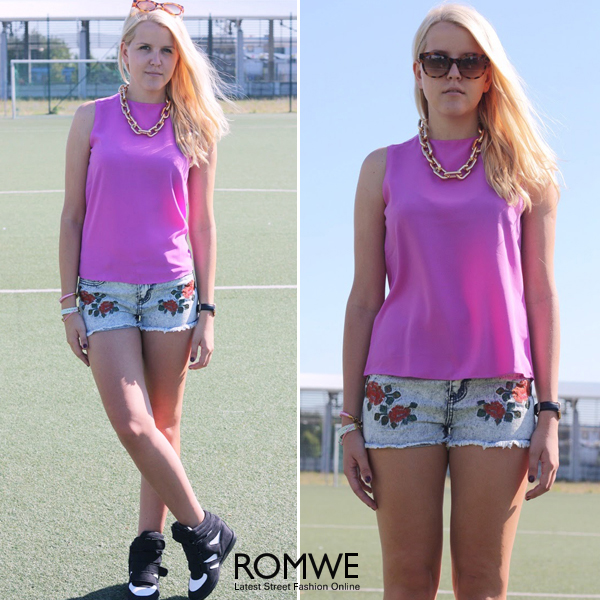 ROMWE   Short Wide Curb Chain Necklace, The Latest Street Fashion