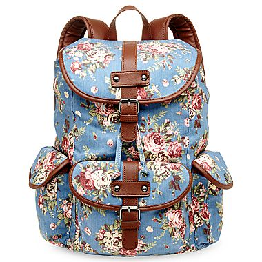 jcpenney | Olsenboye® Floral Canvas Backpack