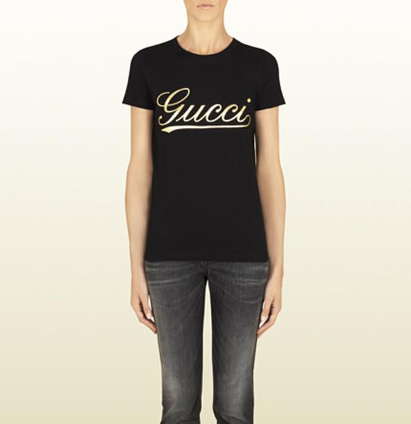 shirt gucci replica gucci t shirt women scrift print gucci logo clothin  gucci 7e65ef1714