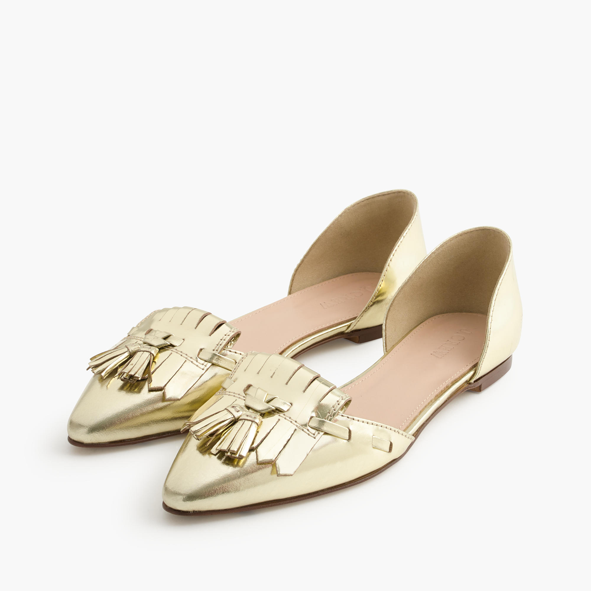 Mirror metallic d'Orsay loafer flats