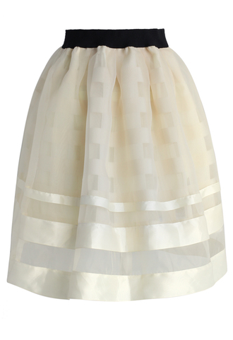 skirt chicwish sheer organza skirt chicwish.com tulle skirt beige skirt party skirt