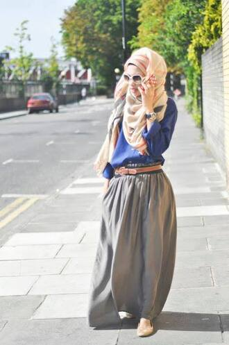 skirt maxi skirt shirt black maxi gold sequins hijabi long shoes belt accesories ring hair necklace earring