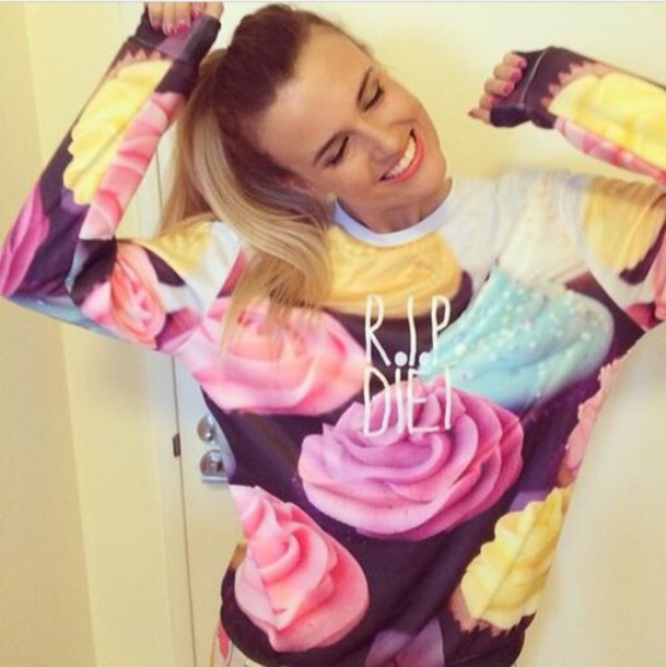 shirt rip diet cupcake