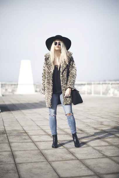 room91 blogger hat jacket bag jeans shoes coat