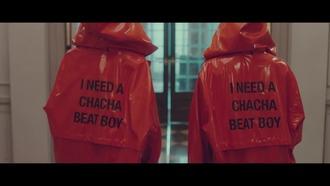 jacket red hoodie kpop