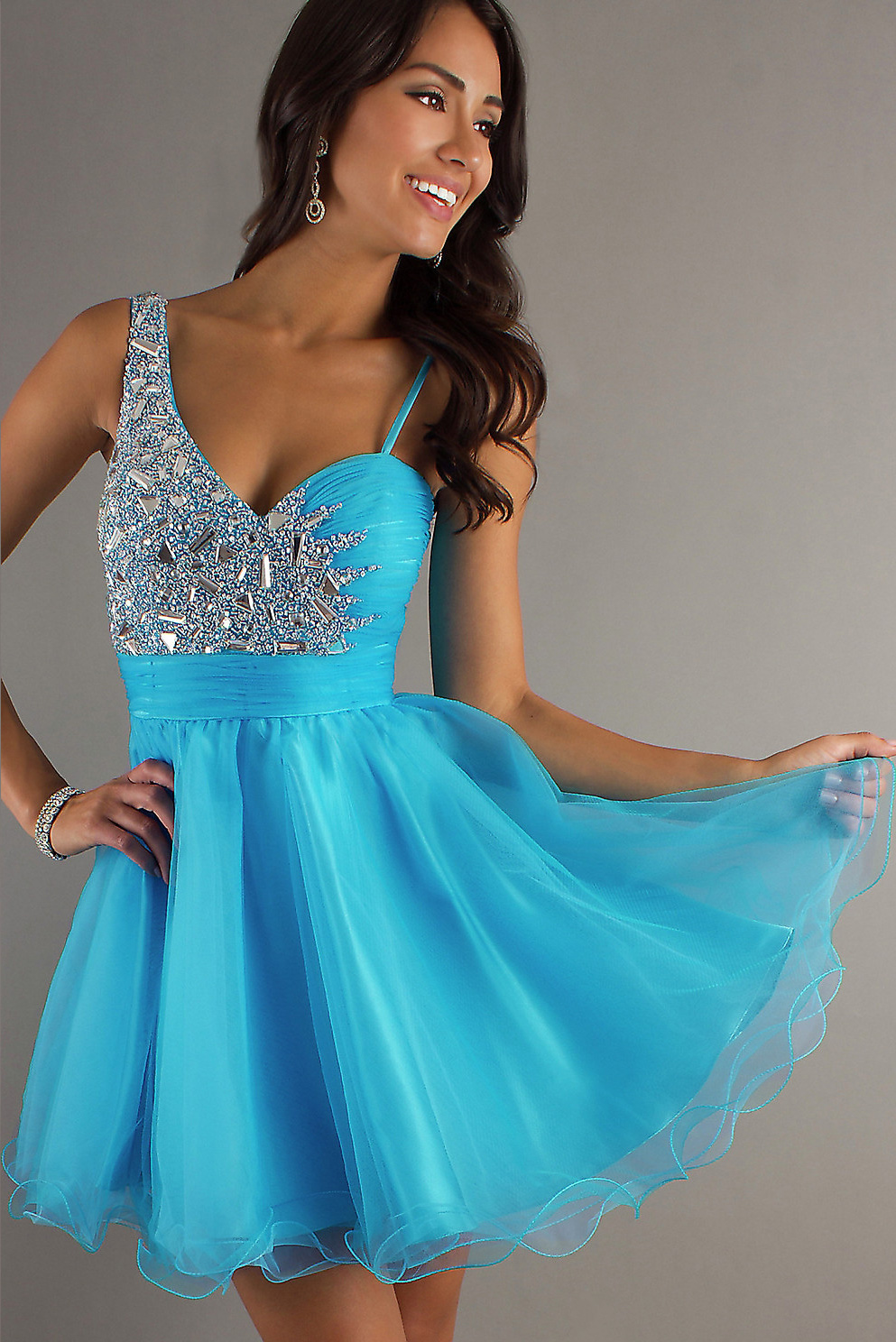 Blue Dresses For Homecoming