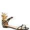 Gold and black pina colada flat sandal by aquazzura now available on moda operandi
