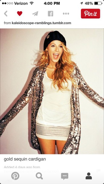 cardigan blake lively white dress sequins