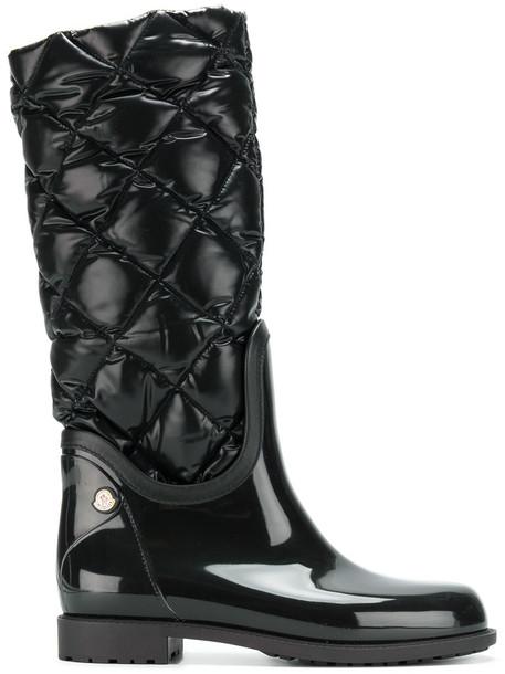 moncler women plastic black shoes