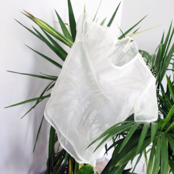 Shirt Basic Tumblr Plants Indie Grunge Top White