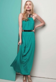 Kuku mermaid tear maxi dress in teal