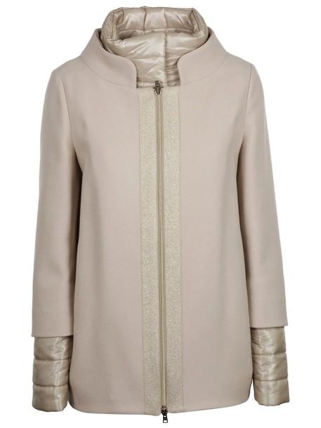 Herno jacket zip layered grey