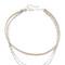 Jennifer zeuner jewelry quinn choker necklace - silver/nude