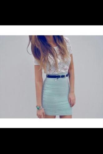 skirt bodycon skirt mini skirt aztec aqua top