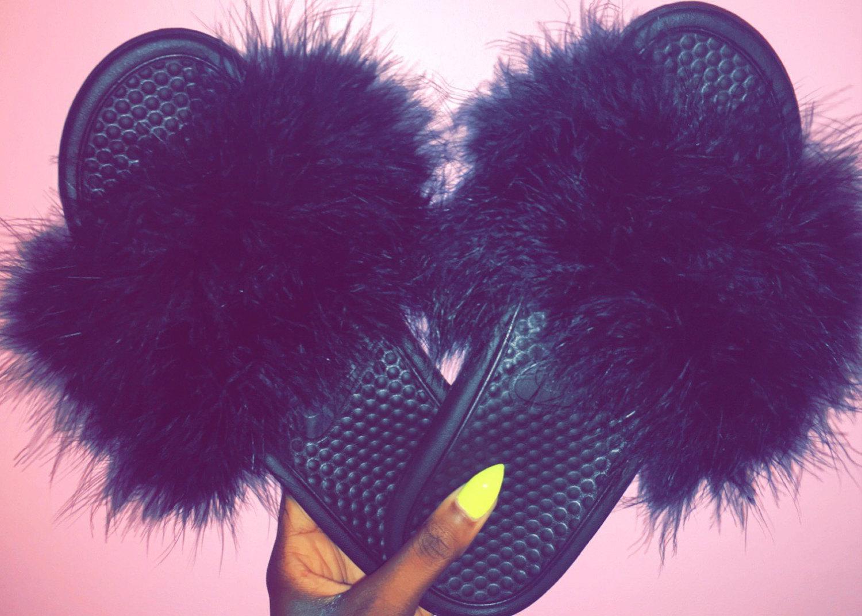 7889656c83c496 Faux Fur Nike Jdi Slides