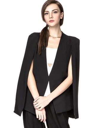 jacket cape blazer cape black tuxedo blazer black blazer tuxedo blazer pixie market pixie market girl