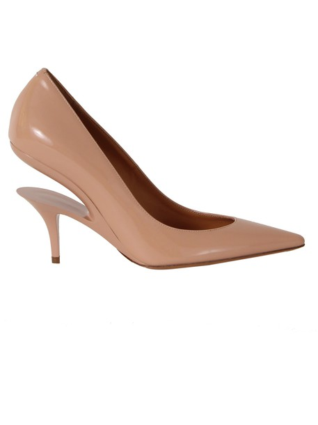 cut-out pumps nude pink shoes