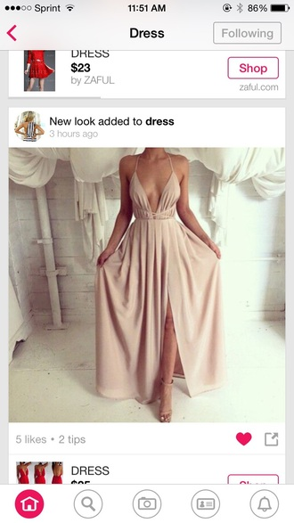 dress nude dress maxi dress summer dress
