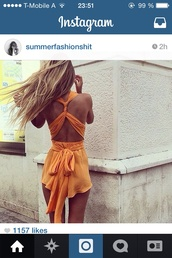 jumpsuit,orange,open back