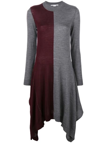 dress women silk wool knit grey