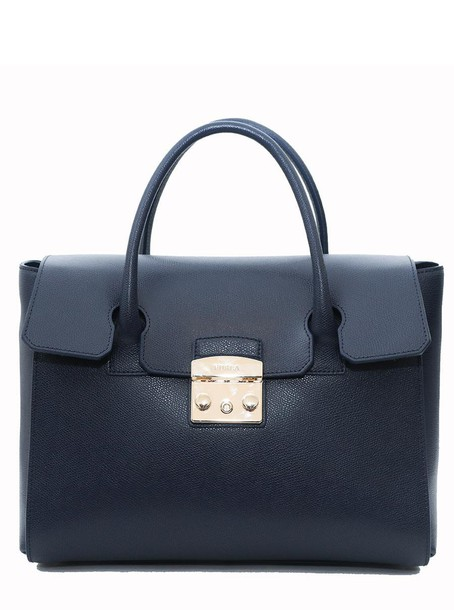 Furla satchel blue bag