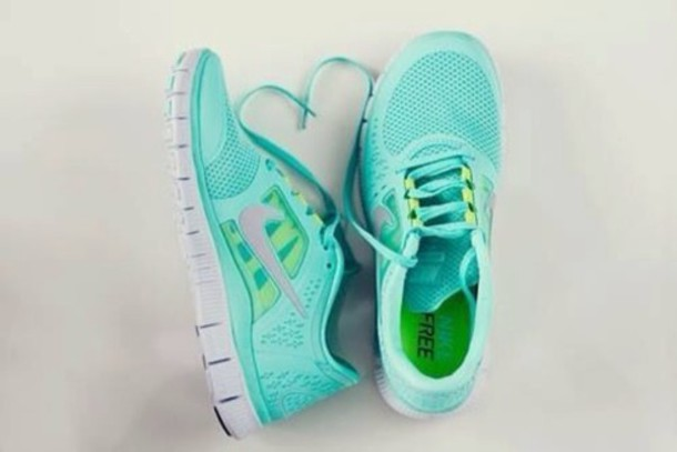 Nike Free 4.0 V2 Women Running Shoes - Blue Green